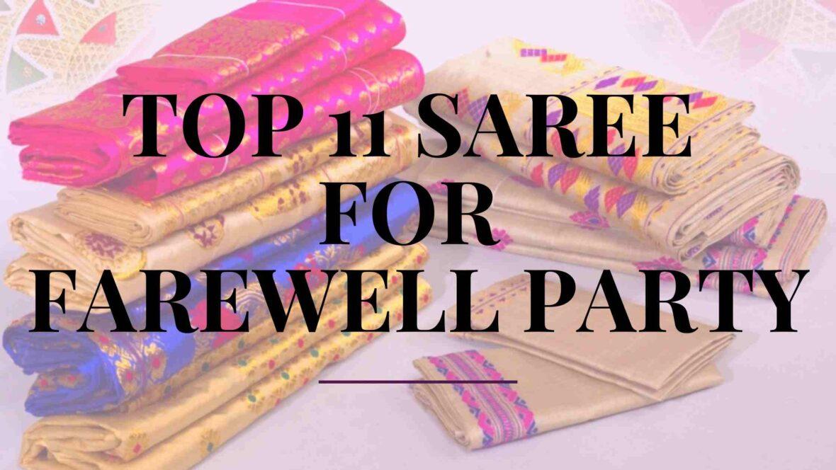Saree for farewell